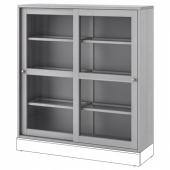 ХАВСТА Шкаф-витрина,серый